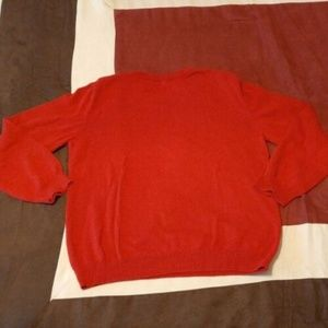 BASIC EDITION RED PULLOVER SWEATER LG 10 -12